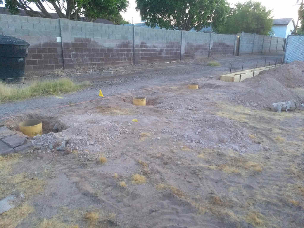 steel fence footing forms