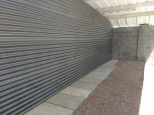 corrugated privacy wall in scottsdale