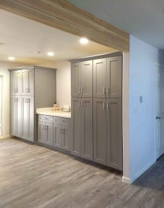 pantry wall with gray cabinets paradise valley kitchen